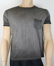 Heiliger Laurent Herren Grau Batik Feinstrick Baumwolle Angepasst T-Shirt 375900