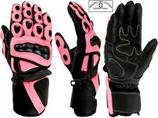 rose Hawk femmes haute qualité Moto / Moto / MOTOCROSS gants cuir