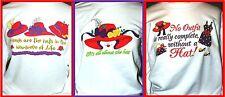 NEW Silkscreen ~CHOICE of SAYING~ White Sweatshirts w Red Hat Lady Society - M L