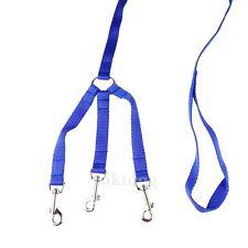 Laisse 3 chiens NYLON CLASSIC Bleu