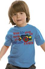 """bambini maglietta """" Wenn ich GRANDE Bin SARÀ ICH DRIVER """" papà GUIDA TRATTORE"""
