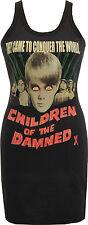 LADIES BLACK DRESS CHILDREN OF THE DAMNED B-MOVIE HORROR CREEPY SCI-FI S-XL