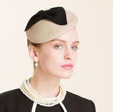 Cute Bow Ladies Wool Felt Beret Hat Fascinator Pillbox Royal Ascot Wedding A317