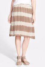 NWT Eileen Fisher Lantern Skirt Mocha Shibori Striped Silk $218 – S, M, L, XL