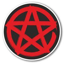 2 x Pentagram Symbol Vinyl Sticker Laptop Travel Luggage Car #6281