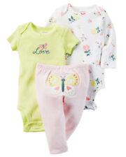 NEW Girls Carter's 3 Piece Set Newborn 3 6 9 12 18 Months