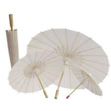 Vintage DIY Blank Paper Umbrella Wedding Decor Photo Shoot Parasol Dance Props