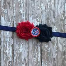 Houston Texans elastic infant, toddler, or adult sized headband bow