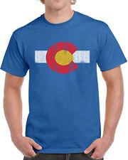 451 Colorado Flag mens T-shirt denver rocky mountains state pride vintage retro