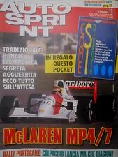 Autosprint 11 1992 Allegato pocket:come si diventa pilota, navigatore ecc sc.5