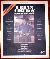 "1980 JOHN TRAVOLTA ""URBAN COWBOY "" MOVIE TRADE AD"