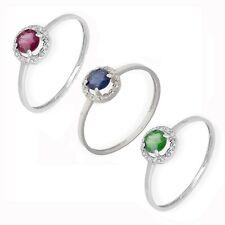 Anillo Rubí y Diamantes Oro Blanco Complementos de Mujer Joyería de Moda