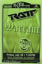 RATT / WARRANT 2000 DENVER CONCERT TOUR POSTER - Hair Band Metal Rock Music