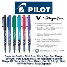 Pilot V Sign Pen Liquid Ink Medium 2mm Nib Fibre Tip Point Marker Graphic Sw-Vsp