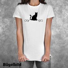 Bügelbild Katze Kätzchen Kater Cat  XXL Wunschfarbe Größe Flex Glitzer Flock