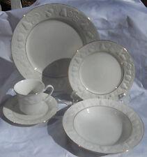 AMERICAN ATELIER MELISSA WHITE FRUIT DINNERWARE DINNER PLATE SALAD BOWL CUP 24 P