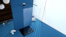 Parete Doccia PAR054 vetro temperato spessore 8mm trasparente fissaggi cromati