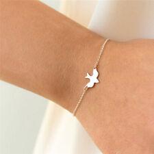 Tiny Peace Dove Bracelet Soar Flying Birds Bracelet Cute Swallow Bird BraceletLA