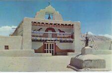 Vintage POSTCARD c1950s Santo Domingo Church NEW MEXICO