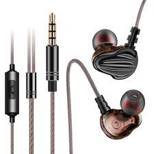 Universal Wired 3.5mm In-Ear Stereo Headphone Headset Earphone Earbud mic F6Y0
