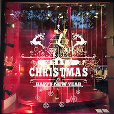 DECO NOËL STICKER Déco vitrine  de magasin fenêtre ou mural  MERRY CHRISTMAS