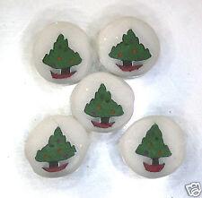 Handmade polymer clay disc beads – Christmas Trees