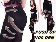 PROBLEMZONE WEG!! Push UP Strumpfhose warm BLICKDICHT 100 DEN Figurformend S-XL