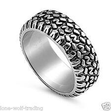 Unisex Stainless Steel Tire Tread Band/Wedding Ring-SR988-C
