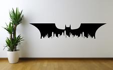 Batman Emblem Logo Bat Sign Gotham City Skyline Wall Decal Sticker Film SU16