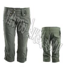 Molecule Khaki 3/4 Cotton Army Military Cargo Combat Women Shorts Size M, L, XL