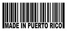 MADE IN PUERTO RICO San Juan Barcode Car Window Decal Wall Sticker