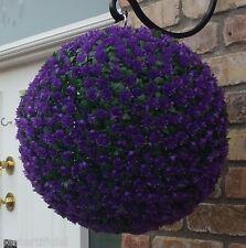 Best Artificial Purple Rose Topiary Hanging Flower Balls
