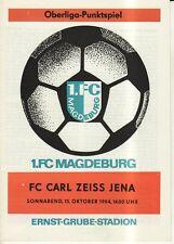 OL 84/85  1. FC Magdeburg - FC Carl Zeiss Jena