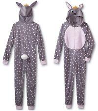 BUNNY Pajamas Womens Size Large - XL Onesie One Piece Union Suit Critter Rabbit