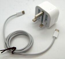Genuine Apple 18W USB C Power Adapter + USB C Cable UK Plug - iPad Pro 11 12.9