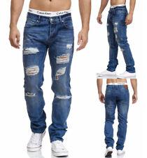 Maddu señores Jeans Hose destroyed ocio Clubwear azul 219 nuevo