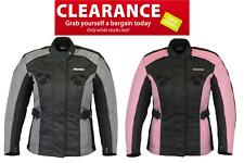 Rksports Women 3535 Motorcycle Motorbike Armoured  Jacket Black Pink Grey SALE!!