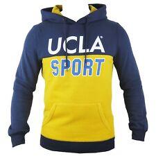 UCLA Mens Peak Fleece Lined Hooded Overhead Pullover Jumper Top Hoodie RRP £50
