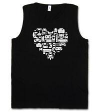 CONTROLLER HEART I TANK TOP Video Game Konsole NES Evolution Joystick Gamepad