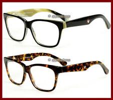 Men Eyeglass frame Acetate optical lens-able spring hinges 53-17 black/tortoise