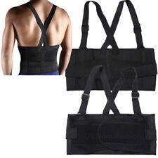 New Mens Suspenders Heavy Weight Lift Lumbar Lower Back Waist Support Belt Brace