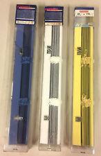 Gardinia tenda veneziana 40 x 175 cm colore blu vaniglia e bianco in alluminio