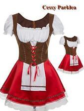 Oktoberfest  Bavarian German Heidi Dirndl Leiderhosen Beer Wench Maid Costume