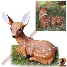 Fallow Deer Garden Ornament Outdoor Sculpture Patio Animal Statue Home Decor