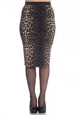 jupe crayon léopard Panthera animal Imprimé Crayon Jupe 5452 Hell Bunny