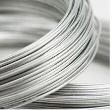 1 - 10 Feet DS .999 Fine Silver Round Wire 8 - 24 Gauge BRND NEW MADE IN USA