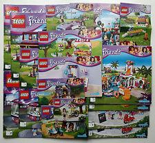 Lego Friends el manual de instrucciones libros sólo Nuevo