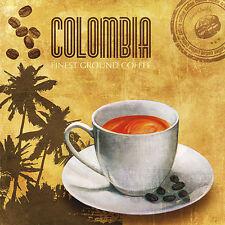 Skip Plato: Finest coffee bastidor de cuña - Imagen Lienzo Cocina Café Comedor