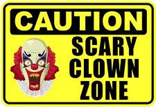 Pagliaccio spaventoso zona FUNNY Avvertenza cautela Pericolo Segno autoadesivo adesivo