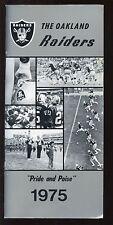 1975 Oakland Raiders NFL Media Guide EXMT